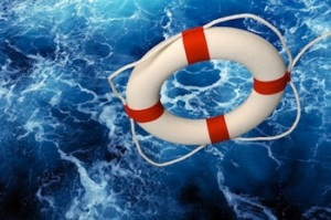 Lifesaver on water